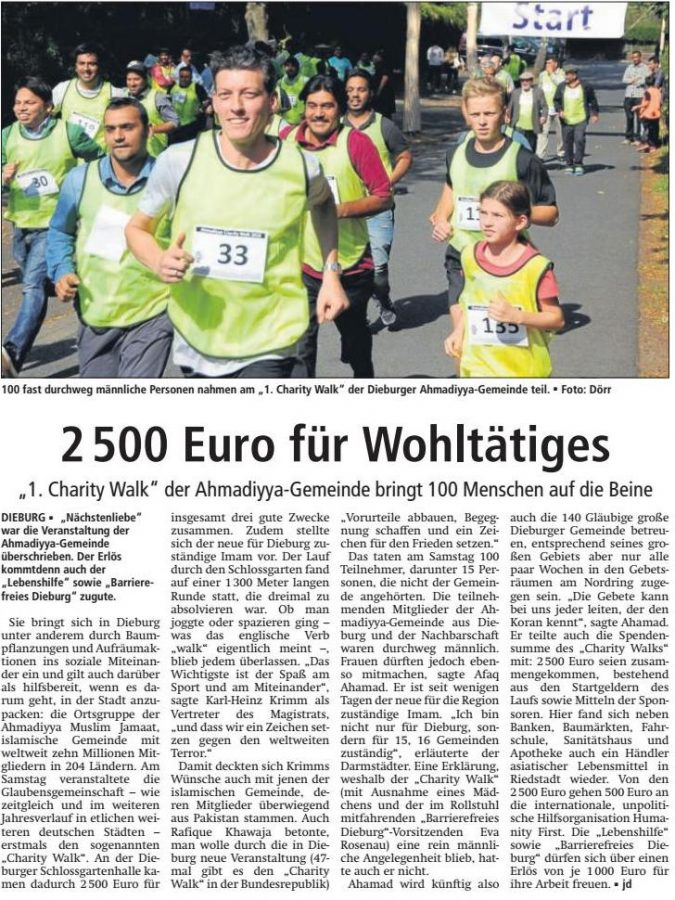 Dieburger Anzeiger vom 1.10.2016