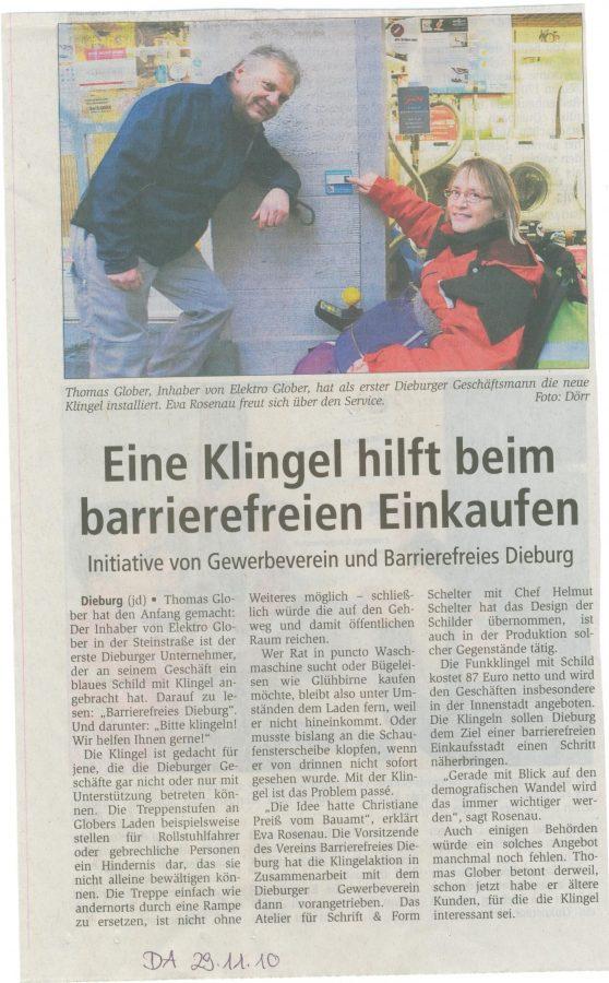 Zeitungsartikel Funkklingel 001