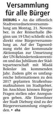 Dieburger Anzeiger vom 27.10.2016